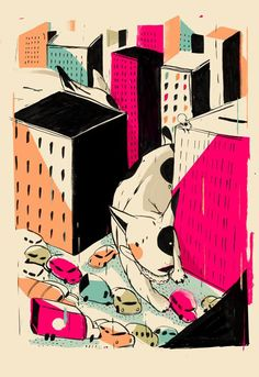 GIANTS! - Pietari Posti Illustration Art Design Pretty Pictures