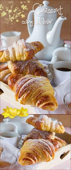 Croissant come al bar Donuts, Small Cake, Pie Dessert, Biscotti, Italian Recipes, Sweet Tooth, Bakery, Food And Drink, Yummy Food
