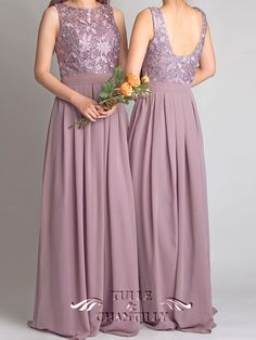 Dramatic-Vintage-Lace-Bridesmaid-Dress-with-Flowing-Chiffon-Skirt-p-TBQP227_b2