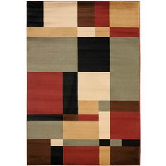 Safavieh Porcello Rectangular Black Geometric Woven Area Rug (Common: 8-ft x 10-ft; Actual: 8-ft x 11.16-ft)LOWES