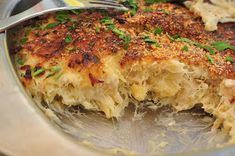 Bacalhau, or salted cod, is representative of the prevalence of seafood in Portuguese cuisine. One of the most common preparations of bacalh. Cod Recipes, Fish Recipes, Cooking Recipes, Healthy Recipes, Natas Recipe, Bacalhau Recipes, Portuguese Recipes, Portuguese Food, Learn Portuguese