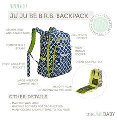 Great option for a second diaper bag...especially with baby wearing.
