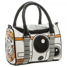 @saintmercy Star Wars 7 BB8 Droid Mini Satchel Handbag Zippered Purse With 48 Inch Strap