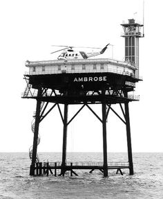 The Ambrose Light tower, once clearly visible off Long Beach but replaced by a buoy after too many ships crashed into it. Coast Guard Boats, Us Coast Guard, Long Beach, Marina Bay Sands, Beautiful Places, Around The Worlds, Old Things, Tower, Country