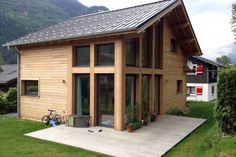 Looking to build a beautiful chalet? We have built one chalet in Chamonix at Mont Blanc mountain. Chalet Chamonix, Chalet Style, Traditional Landscape, Modern Materials, House Floor Plans, Beach House, Shed, Outdoor Structures, Architecture
