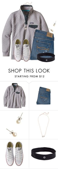 """""""When its cold in Florida"""" by flroasburn ❤ liked on Polyvore featuring Patagonia, Abercrombie & Fitch, J.Crew, Kendra Scott, Converse and lululemon"""