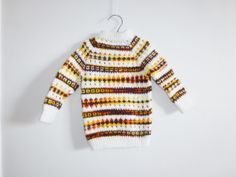 Vintage Orange and Brown Toddler Sweater by Apearsvintagegoodies