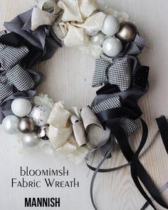 Fabric Wreath, Burlap Wreath, White Wreath, Handmade Christmas, Advent, Christmas Wreaths, Decor, Holiday Wreaths, Decoration