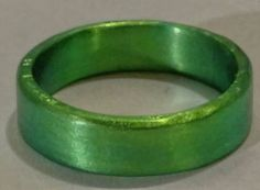 Anodized Niobium Ring Band green by WICKEDWIRED on Etsy