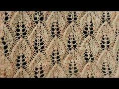 Ajurlu yaprak örgü modeli / Örgü modelleri - YouTube