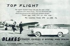 1958 advert featuring Vauxhall Cresta PA