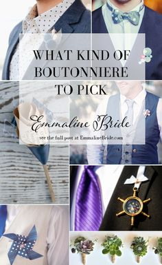 What Kind of Boutonniere to Pick, and Why | http://emmalinebride.com/groom/what-kind-of-boutonniere/