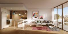 cute-white-and-wood-kitchen.jpg (1200×600)