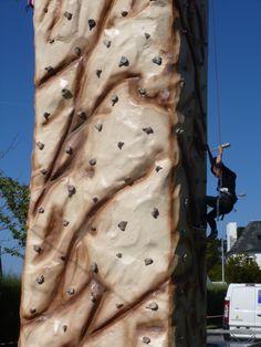 """mur d'escalade avec """"Rêves de Mer"""""""