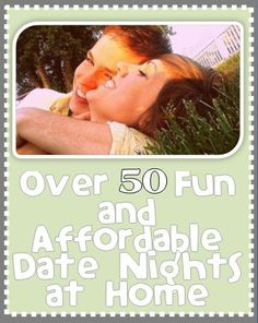 Must REPIN for those nights you are stuck at home and can't come up with something fun to do with your spouse!