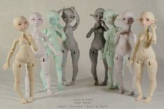 Unique, pear-shaped, BJD (Body Joint Dolls). I've always found pear-shaped people appealing.
