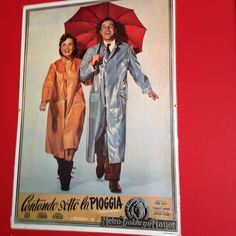 #Spotted #VintagePoster for #SingingInTheRain #London #CantandoSottoLaPioggia