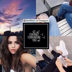 """vsco filters! on Instagram: """"••• free filter❕I am in love with this. looks so fine and cool on all pics even works for selfies, and is great for a feed  — selena is a godness tho """""""
