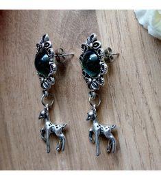 www.aconite.at Deer, Pairs, Drop Earrings, Jewelry, Jewlery, Jewerly, Schmuck, Drop Earring, Jewels