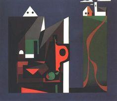 Korniss Dezső: Szentendrei motívum II. é.n.  Dezső Korniss (Hungarian, 1908-1984), Szentendre Motif II, 1947-48. Oil on canvas, 120 x 140 cm. Hungarian National Gallery, Budapest.