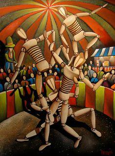 Manikin Circus Painting by Douglas Winters - Manikin Circus Fine Art ...