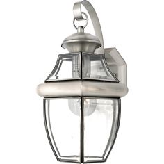 """*************** FRONT DOOR: Quoizel NY8316P Outdoor wall pewter 1 Newbury 1 Light 14"""" Tall Outdoor Wall Sconce with Clear (bevel) Glass; 14''H x 9'' W; 1 E26 medium base 150W bulb; $77.99"""
