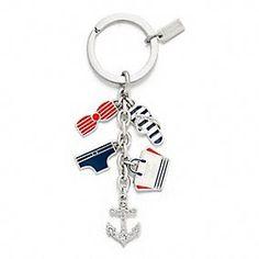 Saint James for Coach Multi Mix Key Ring. Loving all things nautical this season!!!