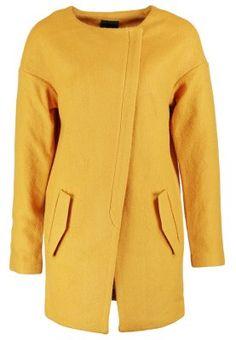 ICHI TOFA Płaszcz wełniany /Płaszcz klasyczny żółty