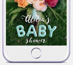 Baby Shower Snapchat Geofilter Girl Baby Shower by DamesAndDollies
