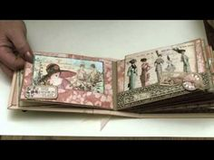 Take a video tour of Clare Charvill's A Ladies' Diary Pocket Album #graphic45 #videos