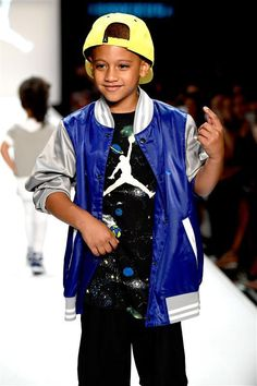 Dascha Polanco's son Aryan walks the runway at Rookie USA Presents Kids Rock! fashion show during New York Fashion Week: The Shows at The Dock on Sept. 8, 2016