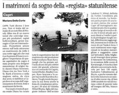 An interview with us about our Capri & Amalfi Coast weddings in Italian newspaper Il Mattino #capri #sugokuiievents #weddingitaly