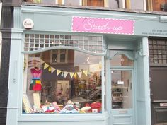Another sweet little shop front from Stitch-Up, a little haberdashery in London.