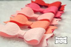 Made to order  THREE of 3.5 inches Wool Blend Felt by Simply4Love, $12.00