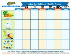 Use this chart to track your healthy habits during National Nutrition Month (March 2015).