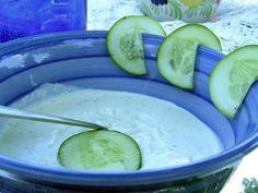 Tzatziki (Gyro Sauce)...OH SO GOOD. ....PS I usually sub light sour cream for the yogurt. My family likes it better