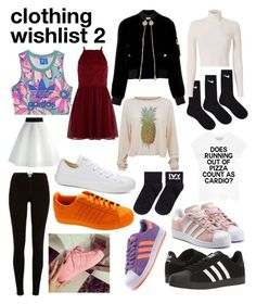 """""""clothing wishlist 2"""" by datboiunicorn on Polyvore featuring adidas, River Island, adidas Originals, NIKE, New Look, Ivy Park, Converse, Givenchy, Wildfox and A.L.C."""
