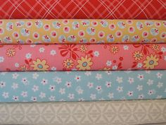 Calico Rag Quilt Kit, Red, Pink, Yellow, Blue Easy to Make, Personalized