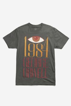 If Big Brother is really watching, why not wear this t-shirt and look doubleplusgood. From the Paul Bacon dust jacket of Orwell's dystopic tale, a story more timely than ever. - 100% cotton fitted tee
