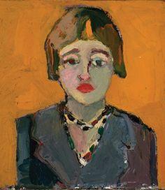 Self Portrait,Joan Brown Joan Brown, Self Portrait, 1960