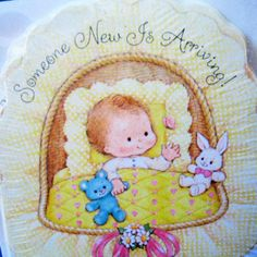 Vintage 1980s invitations for baby shower by Kultur on Etsy, $2.00