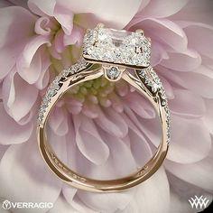 Verragio Square Halo Diamond Engagement Ring