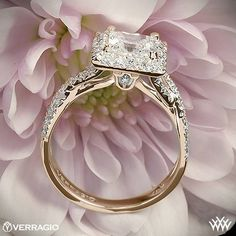 Verragio Square Halo Diamond Engagement Ring