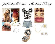 """""""Juliette Moreau-Meeting Harry"""" by lori-lizzie ❤ liked on Polyvore featuring Boohoo, Accessorize, Daisy Jewellery, Dorothy Perkins and Charlotte Russe"""