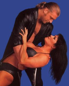 Triple H (Paul Levesque) & his former girlfriend/fiancee Chyna (Joanie Laurer).