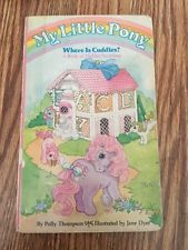 ~Vintage 1985 Hasbro My Little Pony Board Flap Find Book Where Is Cuddles?