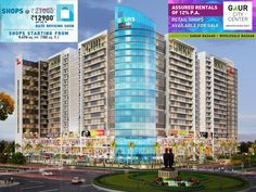 Gaur city center is the great commercial project by Gaur Sons India Ltd. Gaur city center has schools, apartments, villas and parks at the nearby location. For more please call: 8010456456