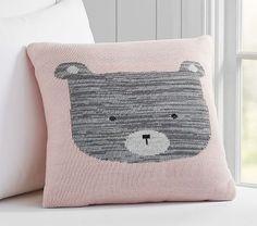 Knitted Bear Decorative Pillow #pbkids