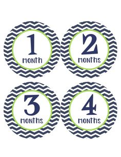 Monthly Baby Stickers Baby Month Stickers by BumpAndBeyondDesigns, $11.00