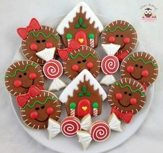 They may be Christmas cookies, but I think they're a great idea for tree ornaments!